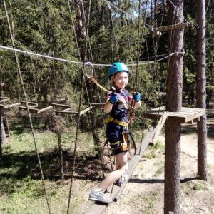 Новый веревочный парк и троллей добавлены к списку услуг на современной базе отдыха «Чайка»